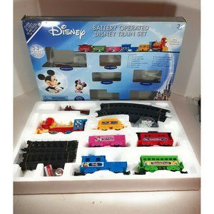 Disney Train Set 54 Pieces Battery Operated Mickey